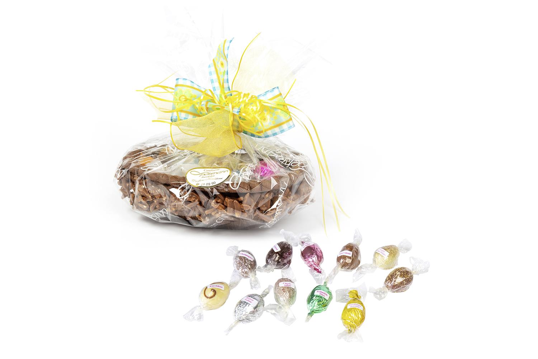 Schokoladennest mit Desserteiern